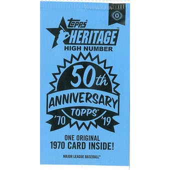 2019 Topps Heritage High Number Baseball 50th Anniversary Topper Pack