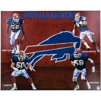 Buffalo Bills Backers Bennett/Conlan/Talley/Bentley Autographed 16x20