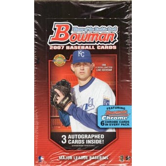 2007 Bowman Baseball Jumbo Box