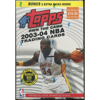 2003/04 Topps Basketball 22 Pack Blaster Box