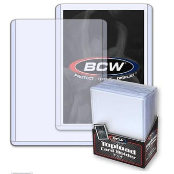 BCW 3x4 Standard Toploaders 25-Count Pack