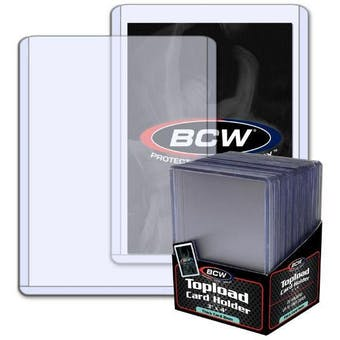 BCW 3x4 Thick 79pt. Toploader 25-Count Pack