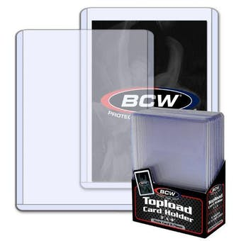 BCW 3x4 Thick 108pt. Toploader 10-Count Pack