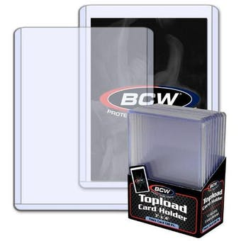 BCW 3x4 Thick 138pt. Toploader 10-Count Pack