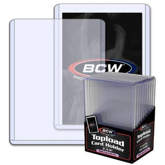 BCW 3x4 Thick 197pt. Toploader 10-Count Pack