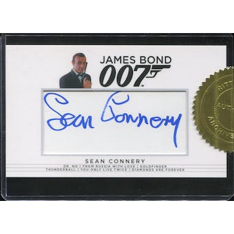 2017 James Bond Archives Final Edition 18 Case Incentive Sean Connery Cut Signature