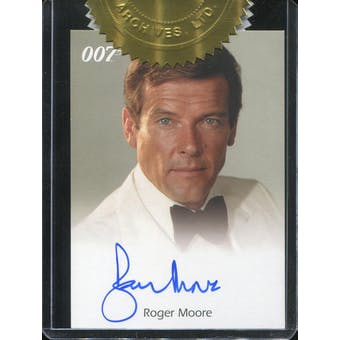 2006 James Bond Dangerous Liaisons Autographs #NNO Roger Moore 6-Case Incentive