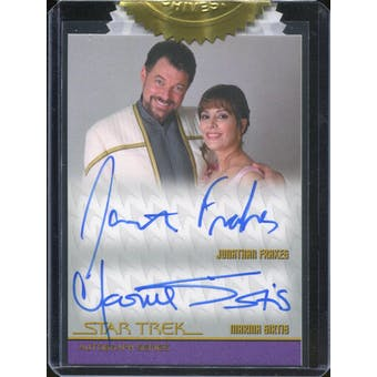 2015 Star Trek The Next Generation Portfolio Prints Autographs #6CI Marina Sirtis/Jonathan Frakes Case-Incenti