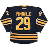 Jason Pominville Autographed Buffalo Sabres Large Blue Hockey Jersey