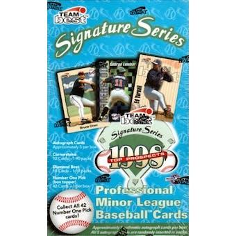 1998 Team Best Signature Series Minor League Baseball Hobby Box
