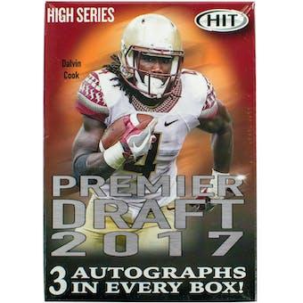 2017 Sage Hit Premier Draft High Football 14-Pack Box