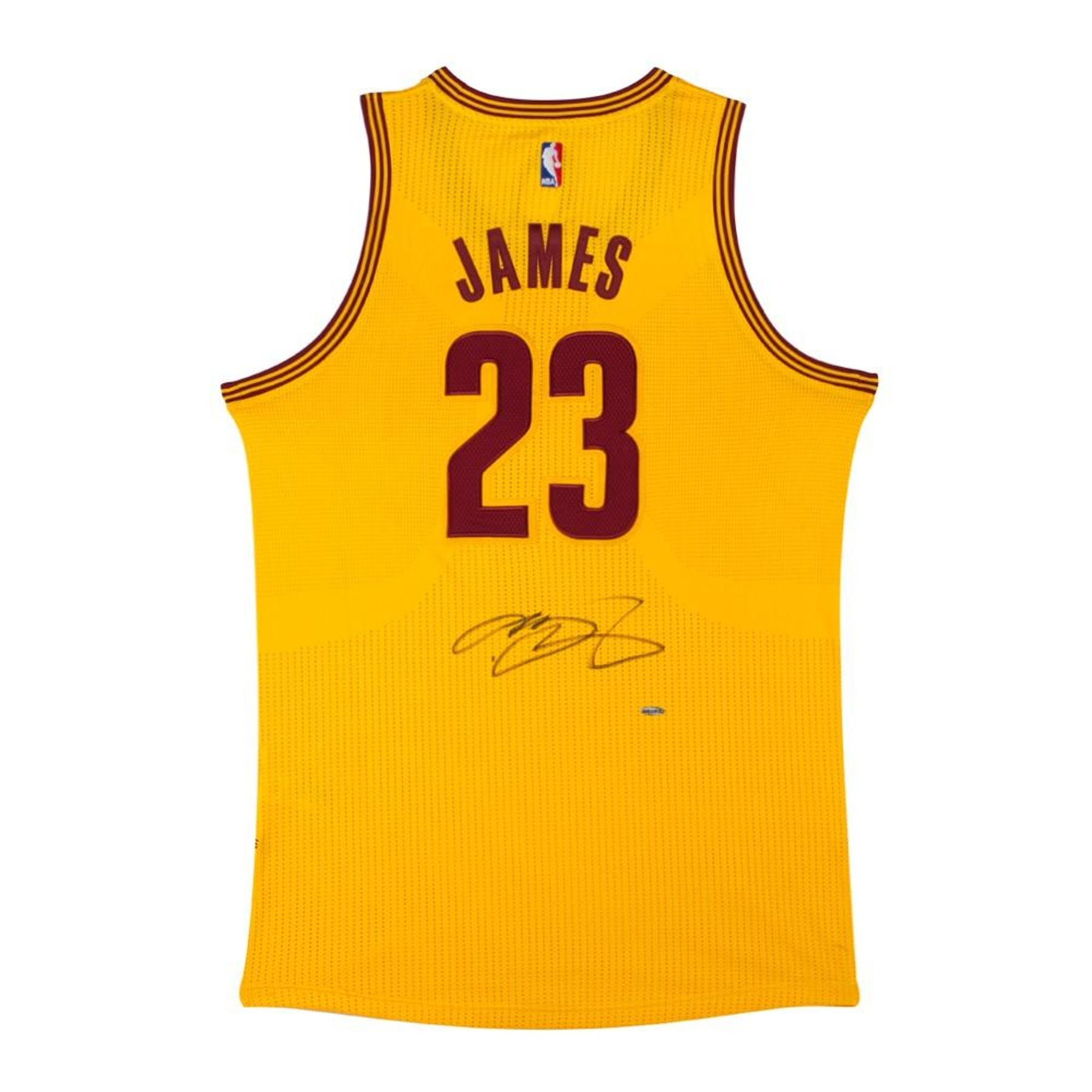 brand new c28a3 80040 LeBron James Autographed Cleveland Cavaliers Yellow Basketball Jersey UDA