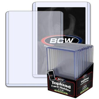 BCW 3x4 Thick 240pt. Toploader 10-Count Pack