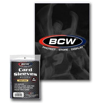 BCW Thick Card Sleeves (100 Count Pack)