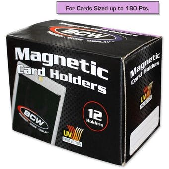 BCW Magnetic Card Holder 180pt. (12 Count Box)