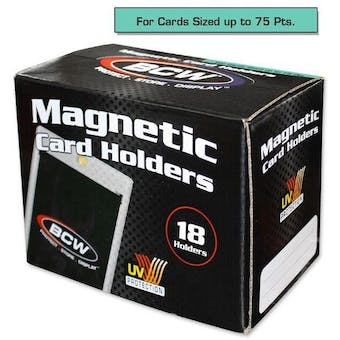 BCW Magnetic Card Holder 75pt. (18 Count Box)