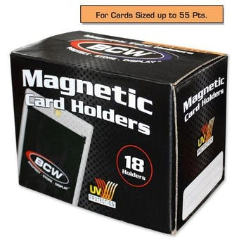BCW Magnetic Card Holder 55pt. (18 Count Box)