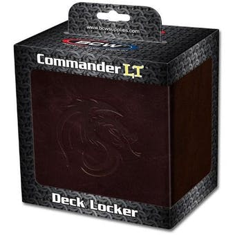 BCW Gaming Commander Deck Locker - Brown