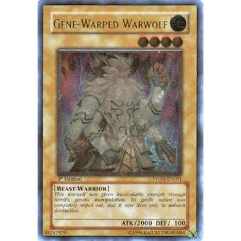 Yu-Gi-Oh Strike of Neos 1st Ed. Single Gene-Warped Warwolf Ultimate Rare - SLIGHT PLAY (SP)