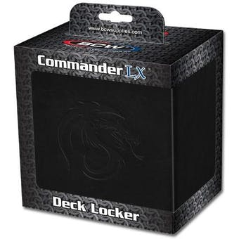 BCW Gaming Commander Deck Locker - Black