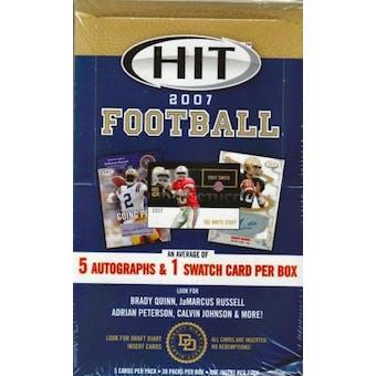 2007 Sage Hit Football Hobby Box