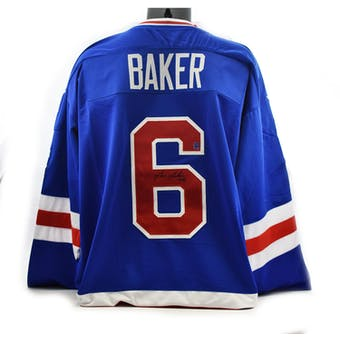 Bill Baker Autographed USA Miracle on Ice Blue Jersey (DACW COA)