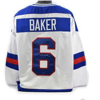 Bill Baker Autographed USA Miracle on Ice White Jersey (DACW COA)