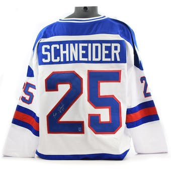 Buzz Schneider Autographed USA Miracle on Ice White Jersey (DACW COA)