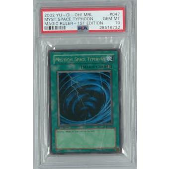Yu-Gi-Oh Magic Ruler 1st Ed. MRL-047 Mystical Space Typhoon PSA 10 GEM MINT