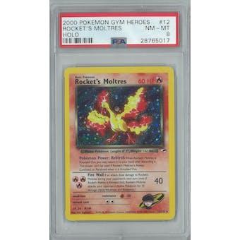 Pokemon Gym Heroes Rocket's Moltres 12/132 PSA 8