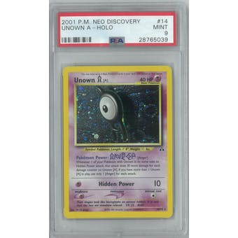 Pokemon Neo Discovery Unown A 14/75 PSA 9
