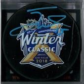 Jack Eichel #15 Autographed Winter Classic Hockey Puck