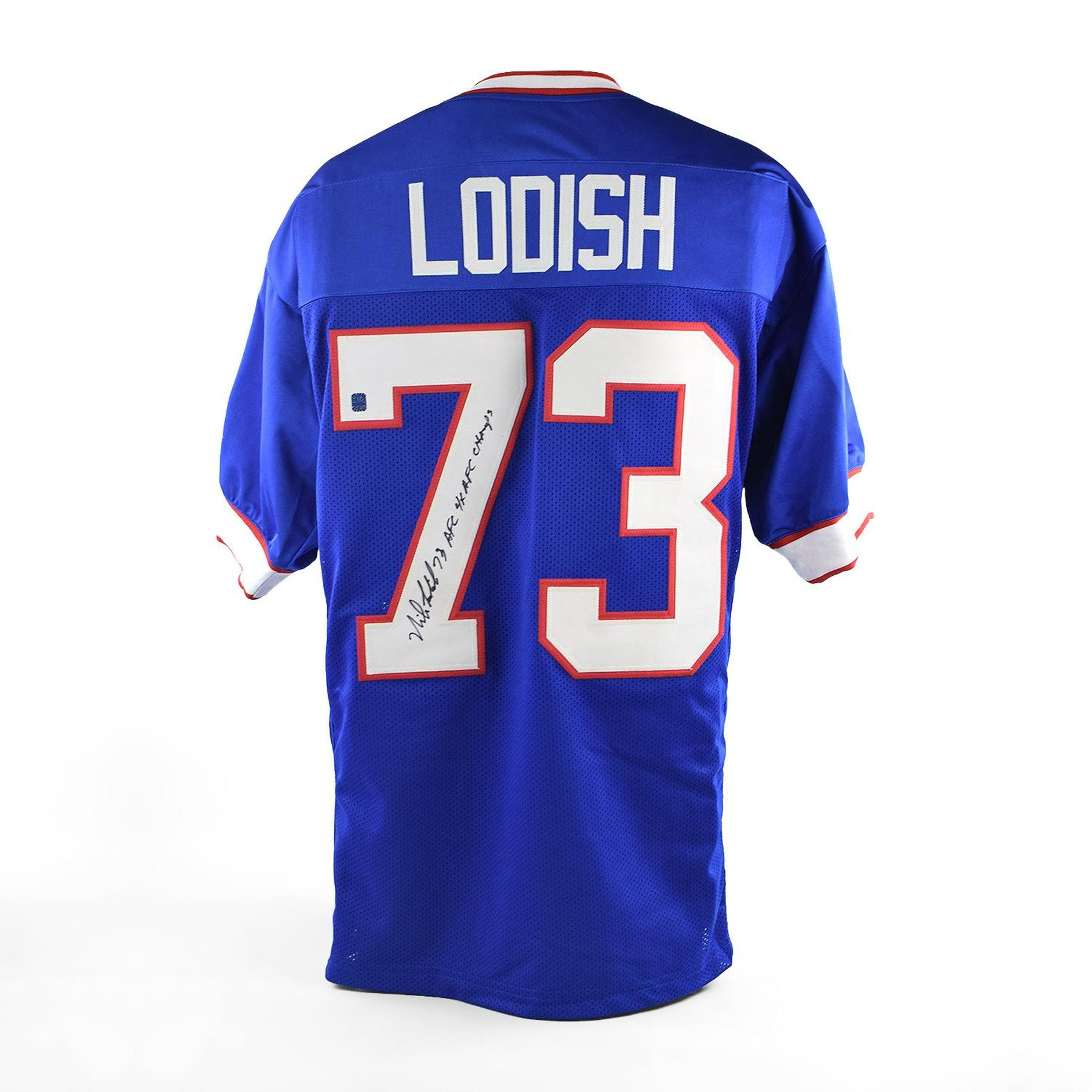 new products 68616 6252d Mike Lodish Autographed Buffalo Bills Football Jersey
