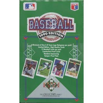 1990 Upper Deck Series 1 Baseball Wax Box (Low #)