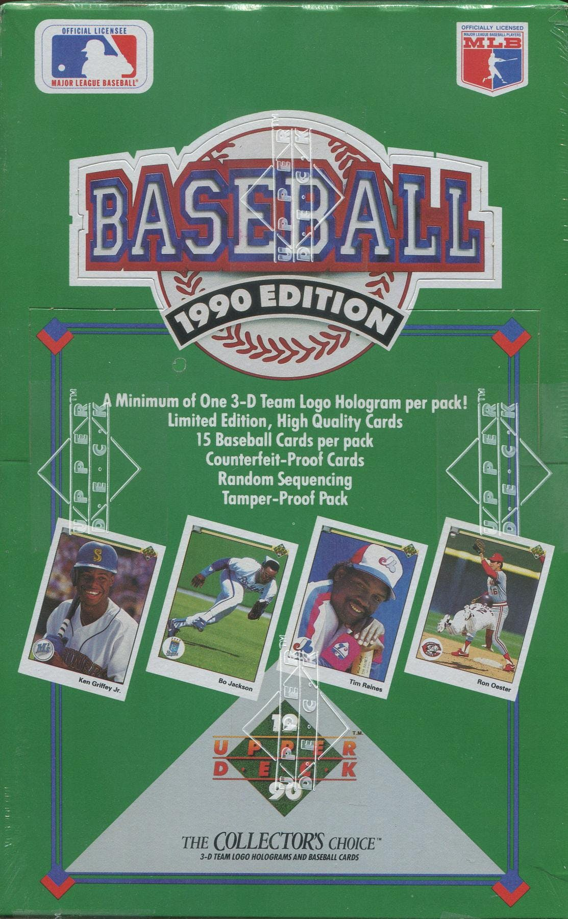 1990 Upper Deck Series 1 Baseball Wax Box Low Da Card World