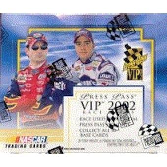 2002 Press Pass VIP Racing Hobby Box