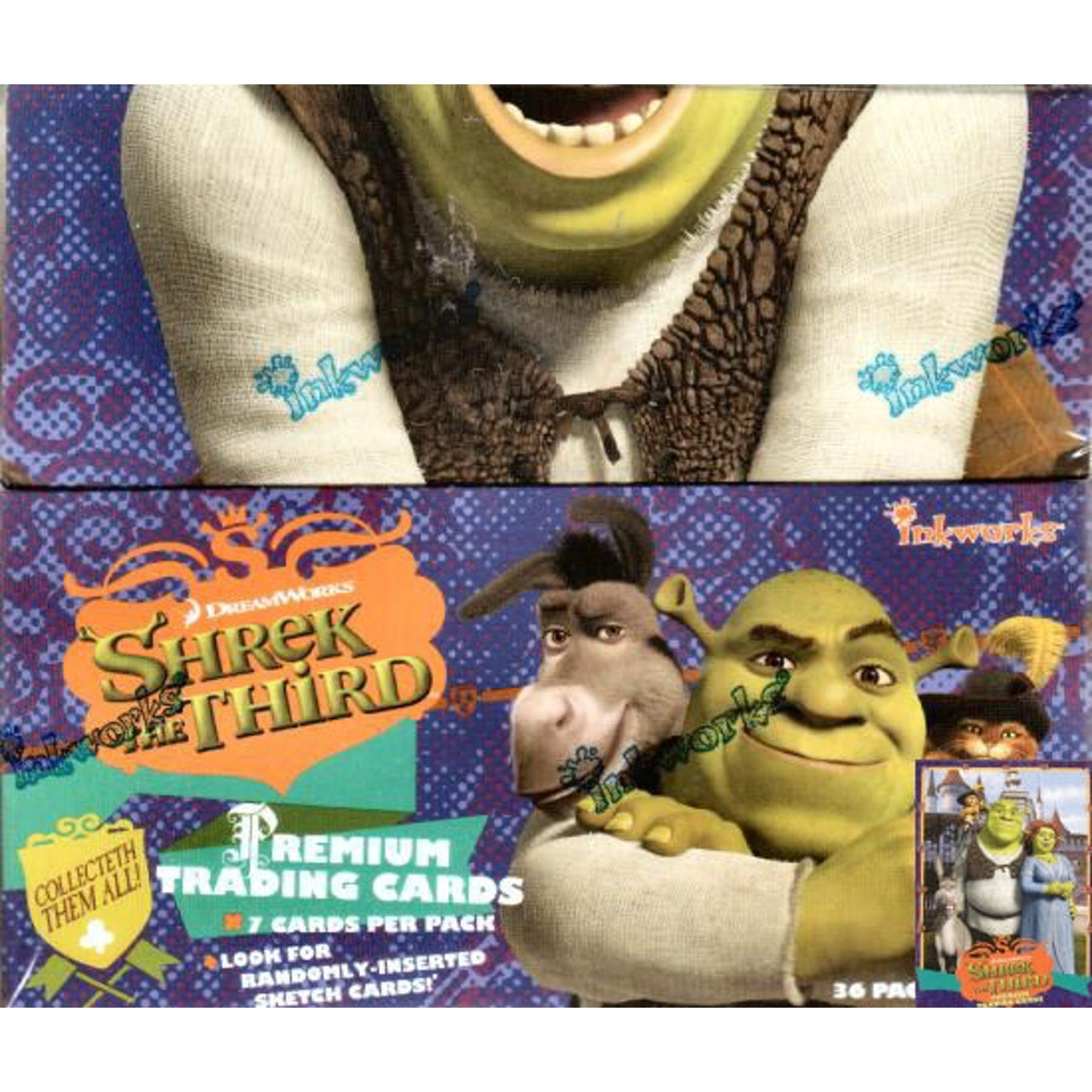 Shrek The Third Hobby Box 2007 Inkworks Da Card World
