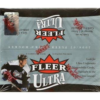 2006/07 Fleer Ultra Hockey 24 Pack Box (UD)