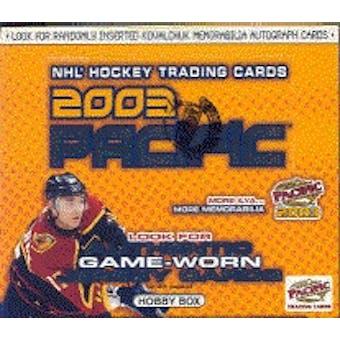 2002/03 Pacific Hockey Hobby Box