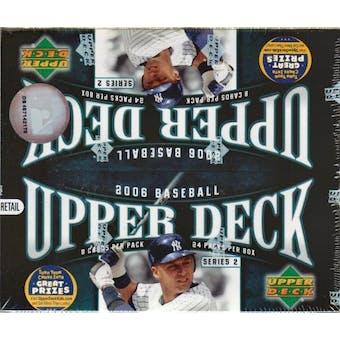 2006 Upper Deck Series 2 Baseball 24 Pack Box