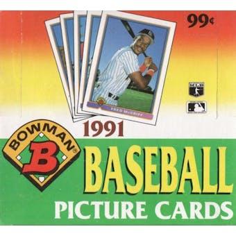 1991 Bowman Baseball Cello Box