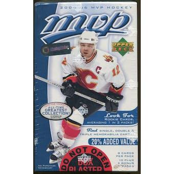 2005/06 Upper Deck MVP Hockey 12 Pack Box