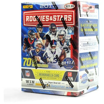 2017 Panini Rookies & Stars Football 7-Pack Blaster Box (Lot of 10)