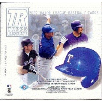 2002 Topps Reserve Baseball Hobby Box