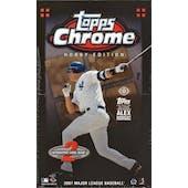 2007 Topps Chrome Baseball Hobby Box (Reed Buy)