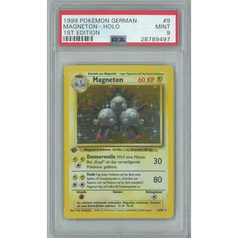 Pokemon Base Set 1st Edition GERMAN Magneton 9/102 PSA 9