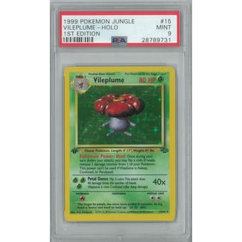 Pokemon Jungle 1st Edition Vileplume 15/64 PSA 9