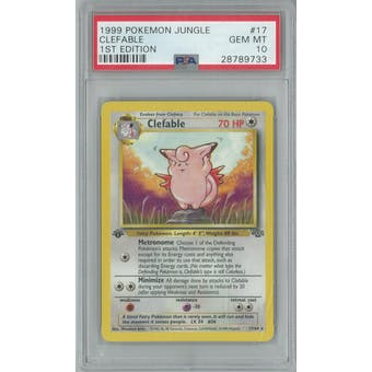 Pokemon Jungle 1st Edition Clefable 17/64 PSA 10 GEM MINT