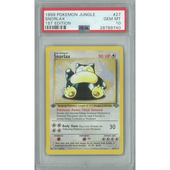 Pokemon Jungle 1st Edition Snorlax 27/64 PSA 10 GEM MINT