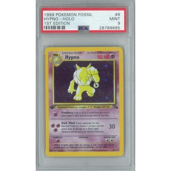 Pokemon Fossil 1st Edition Hypno 8/62 PSA 9